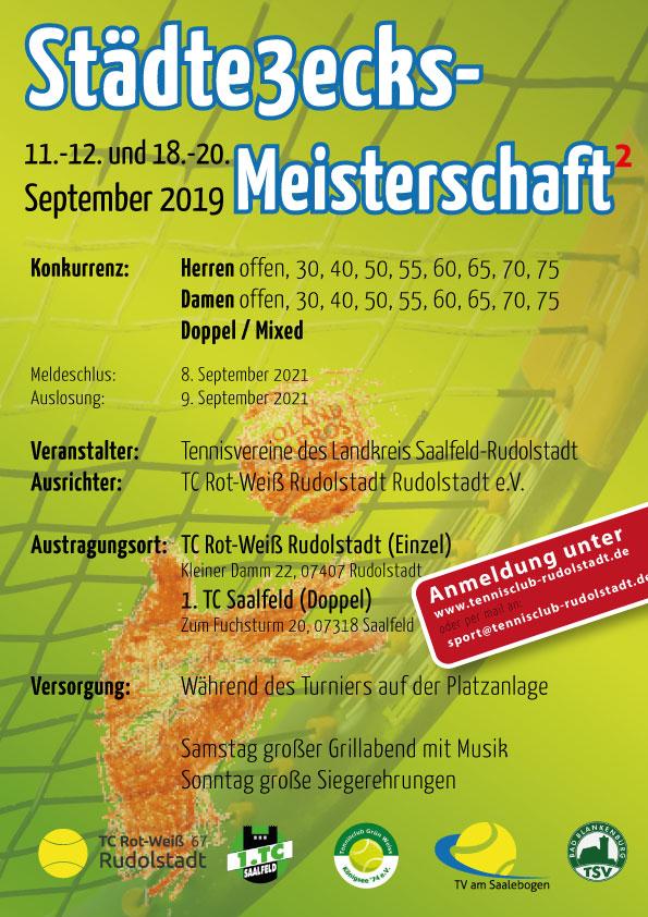 Turnierplakat der Städte3ecks-Meisterschaften Saalfeld-Rudolstadt