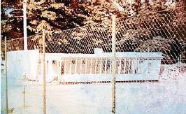 Blick auf das Vereinsheim des Tennisverein