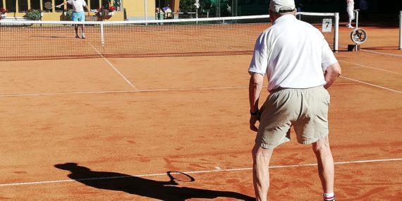 Senioren 80+ beim Einzel im Tennisclub Rudolstadt