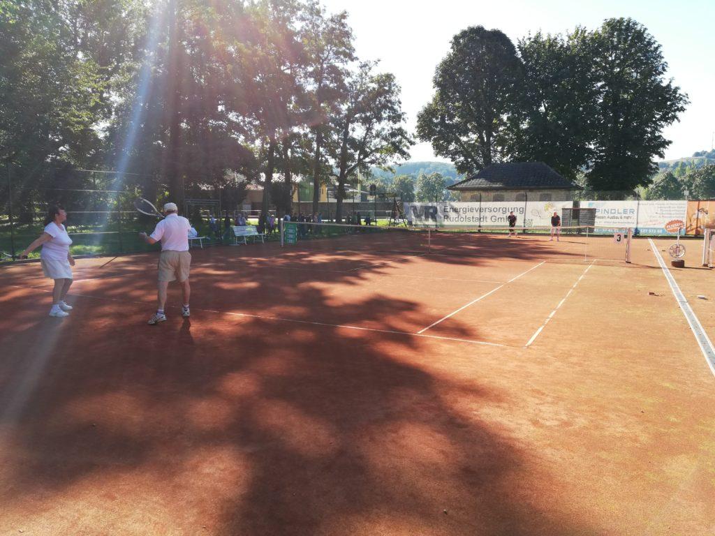 Senioren-Mixed-Doppel im Tennisclub Rot-Weiss Rudolstadt