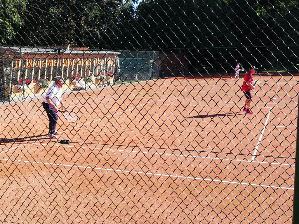 Das Herren Doppel Ü60 im Tennisclub Rot-Weiss Rudolstadt